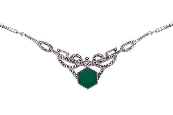 Marcasite necklace NE0035 1