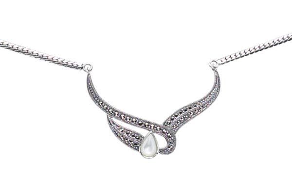 Marcasite necklace NE0057 1