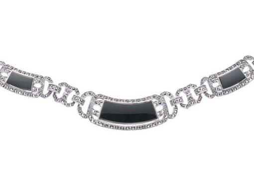 Marcasite necklace NE0077 1