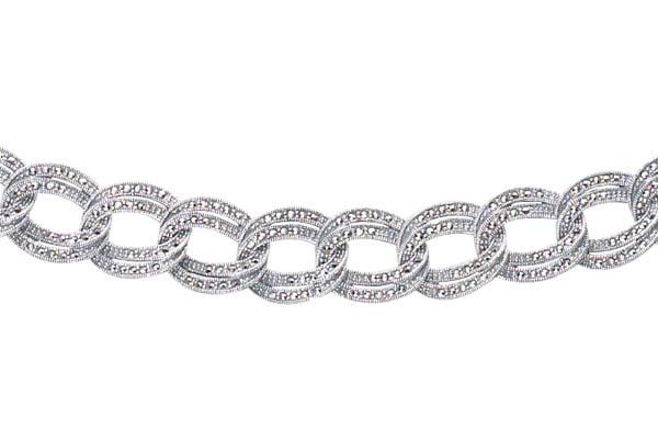 Marcasite necklace NE0080 1