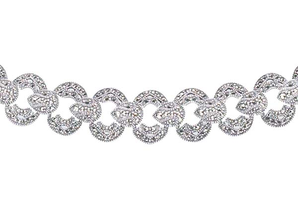 Marcasite necklace NE0169 1