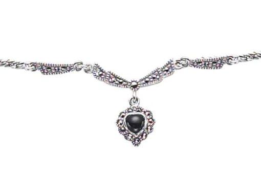 Marcasite necklace NE0255 1