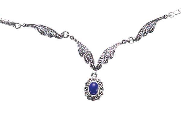 Marcasite necklace NE0258 1