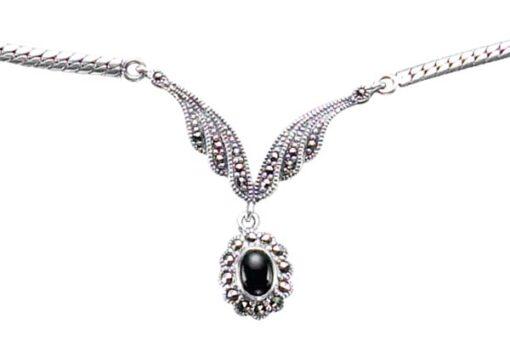 Marcasite necklace NE0259 1