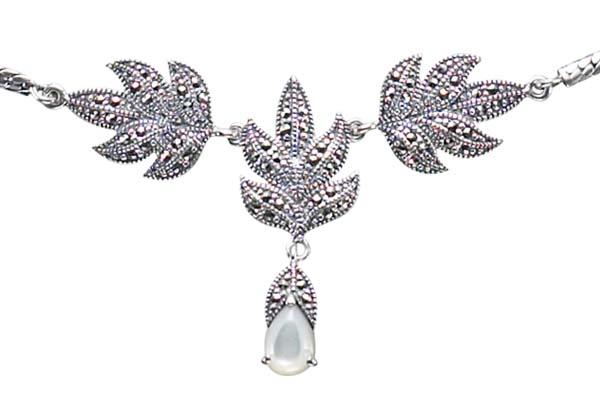 Marcasite necklace NE0266 1