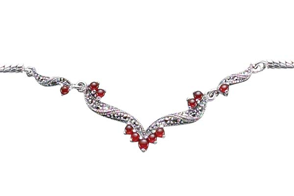 Marcasite necklace NE0364 1