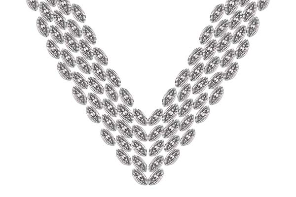 Marcasite necklace NE0448 1