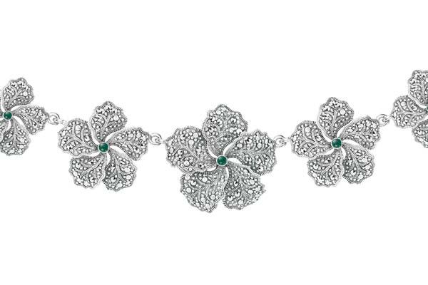 Marcasite necklace NE0465 1