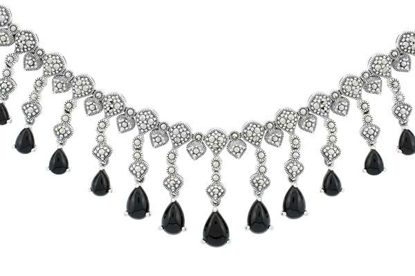 Marcasite necklace NE0467 1