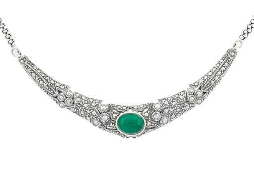 Marcasite necklace NE0472 1