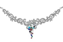 Marcasite necklace NE0473 2