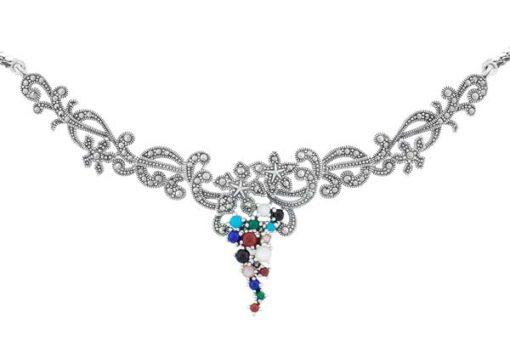 Marcasite necklace NE0473 2