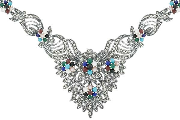 Marcasite necklace NE0474 1
