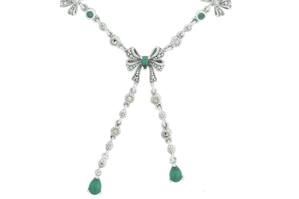 Marcasite necklace NE0476 1