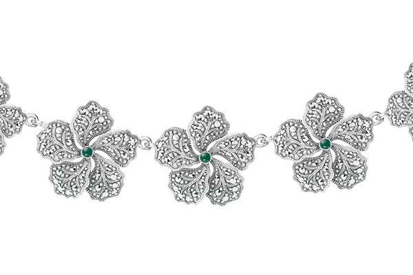 Marcasite necklace NE0482 1