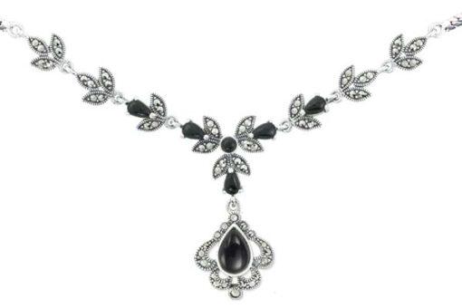 Marcasite necklace NE0491 1