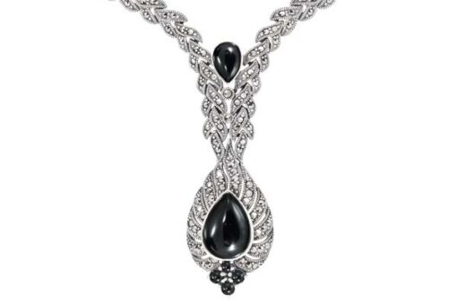 Marcasite necklace NE0494 1