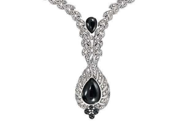 Marcasite necklace NE0494 1