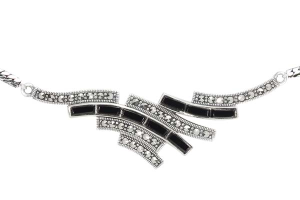 Marcasite necklace NE0497 1