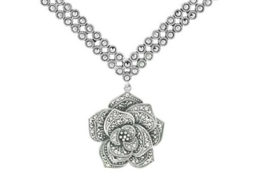 Marcasite necklace NE0500 1