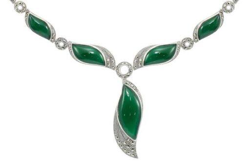 Marcasite necklace NE0506 1