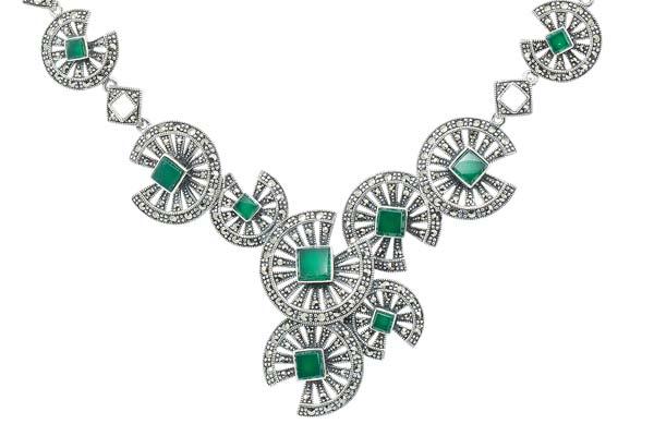 Marcasite necklace NE0508 1