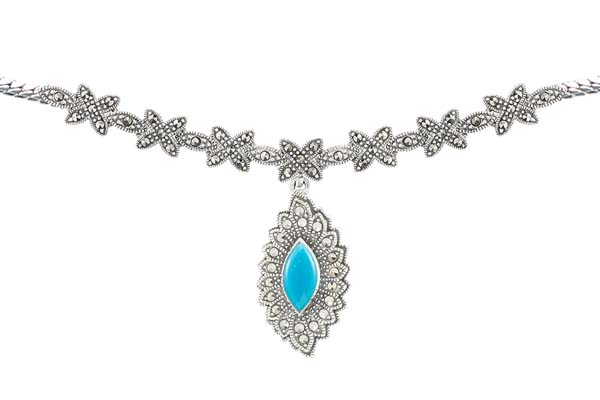 Marcasite necklace NE0511 1