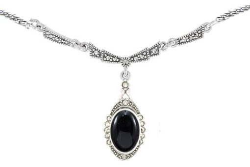 Marcasite necklace NE0512 1