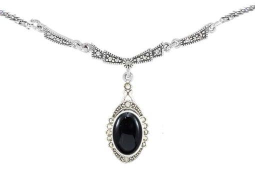 Marcasite necklace NE0512 1