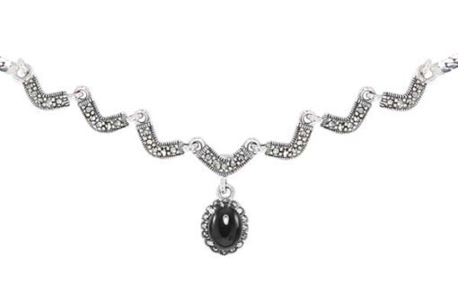 Marcasite necklace NE0516 1