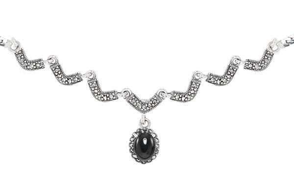 Marcasite necklace NE0516 1