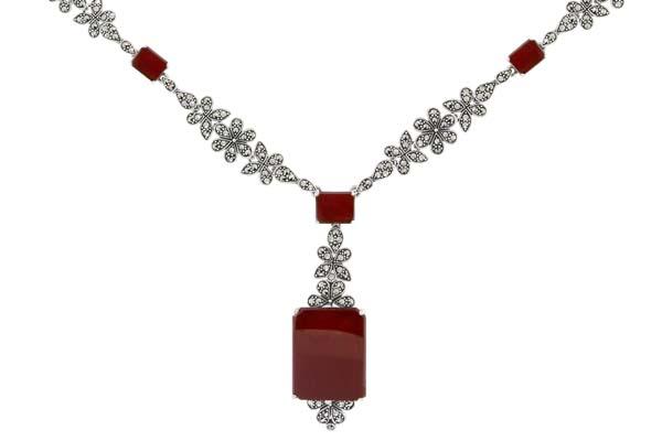 Marcasite necklace NE0518 1