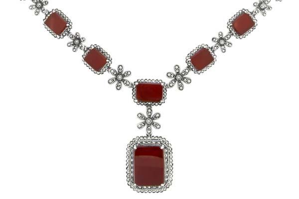 Marcasite necklace NE0519 1
