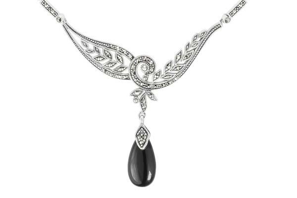 Marcasite necklace NE0526 1
