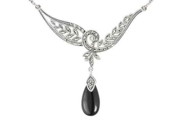 Marcasite necklace NE0533 1