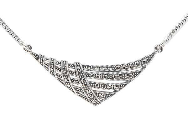 Marcasite necklace NE0539 1