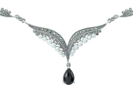 Marcasite necklace NE0540 1