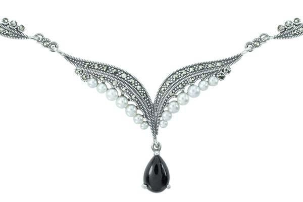 Marcasite necklace NE0540 1