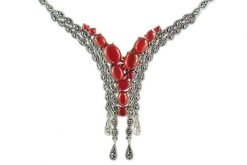Marcasite necklace NE0541 1