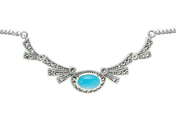 Marcasite necklace NE0546 1