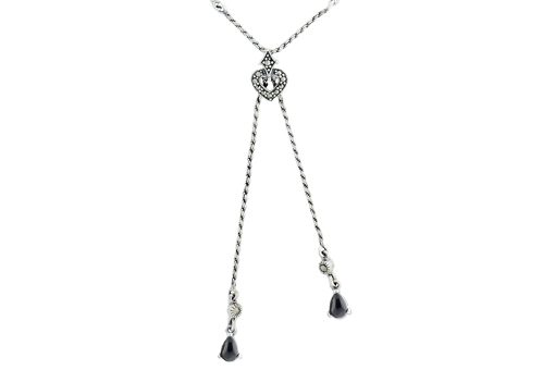 Marcasite necklace NE475 001