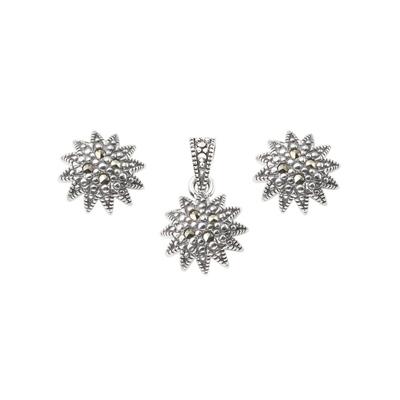 d24061124a50f Marcasite Jewelry Set-E0384-MAC-PIN