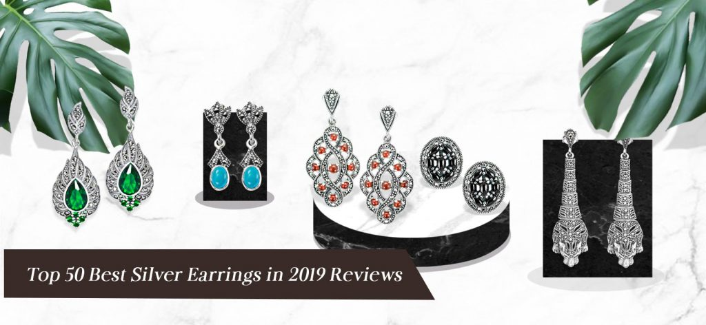 Top 50 Best Silver Earrings in 2019 Reviews 001