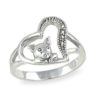 Marcasite jewelry ring HR1560 001