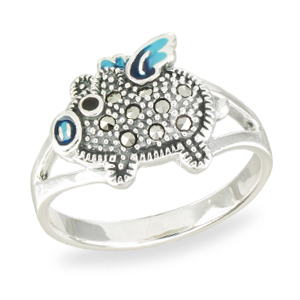 Marcasite jewelry ring HR1561 001
