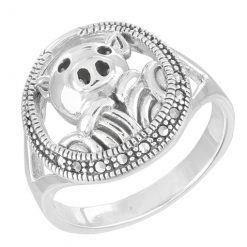 Marcasite jewelry ring HR1566 001