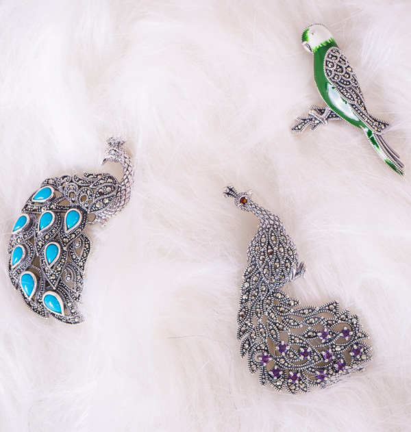 New Arrivals-Marcasite Brooch