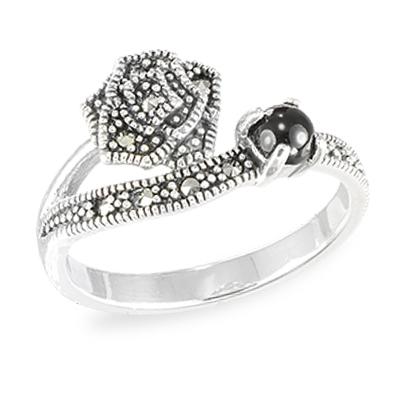 Marcasite jewelry ring HR1569 002