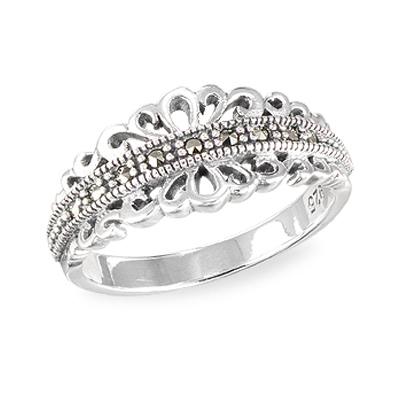 Marcasite jewelry ring HR1570 001